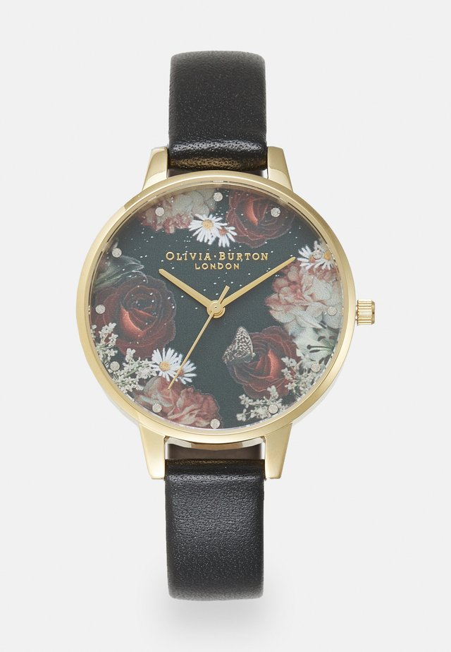 WINTER BLOOMS - Horloge - black/gold-coloured