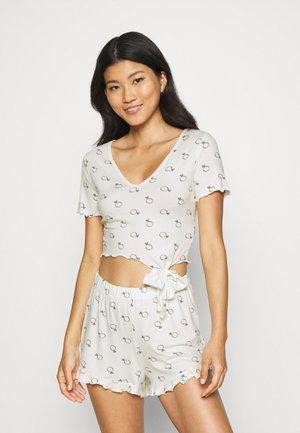 BRIDAL RING PRINT TEE AND SHORT - Pyjama - white