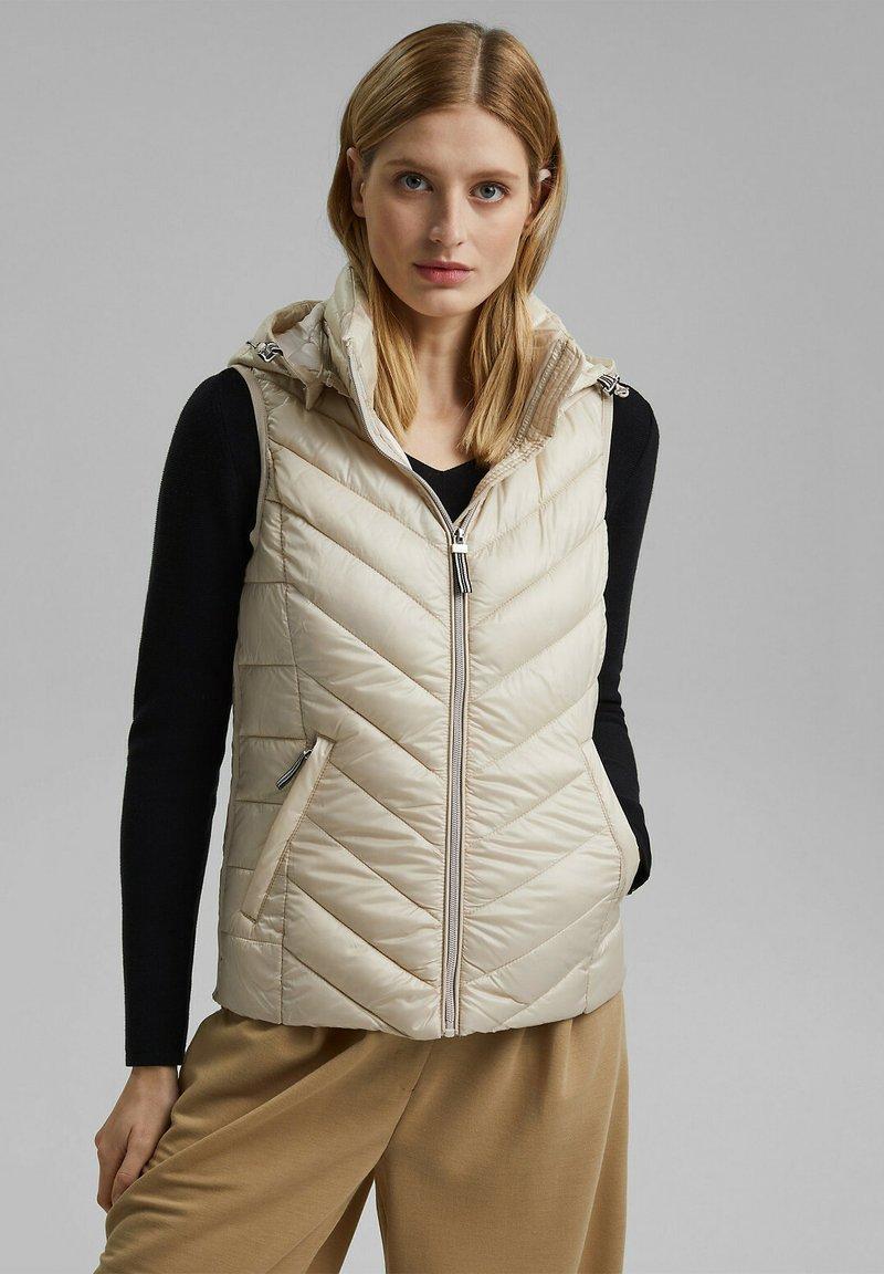 Esprit - MIT 3M™ THINSULATE™ - Waistcoat - cream beige