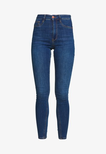 HIGHWAIST - Jeans Skinny Fit - dark blue