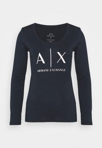 Armani Exchange - Long sleeved top - navy - 0