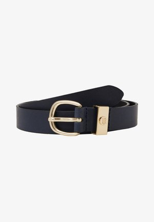 OVAL BUCKLE BELT - Pasek - blue