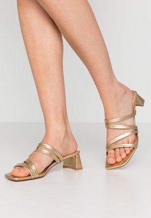 DIXIE MULE - Heeled mules - gold