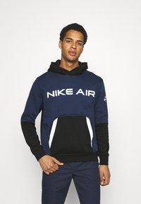 Nike Sportswear - AIR HOODIE - Luvtröja - midnight navy/black - 0