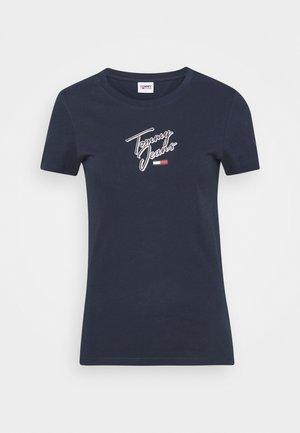 SKINNY SCRIPT TEE - T-shirt print - twilight navy