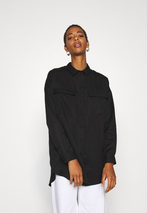 SLFMIRANDA LONG - Button-down blouse - black