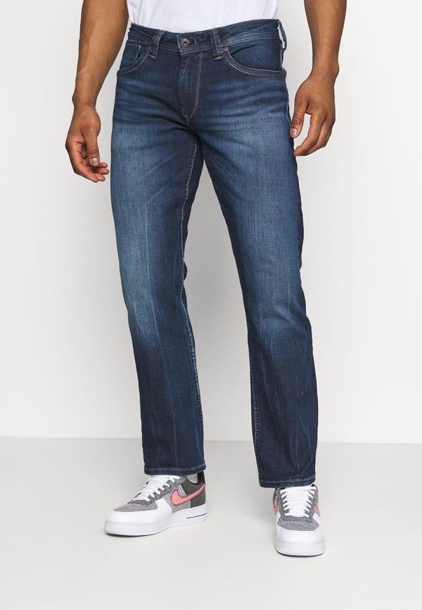 Pepe Jeans KINGSTON ZIP - Jeansy Straight Leg - denim/ciemnoniebieski Odzież Męska SBEX