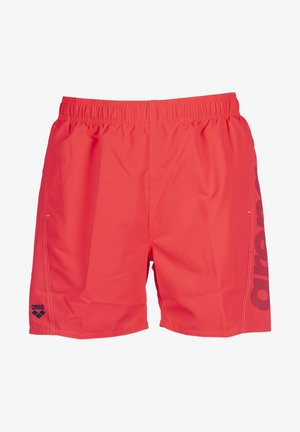 arena Herren Badeshorts Fundamentals Logo - Swimming shorts - fluo red-shark-white