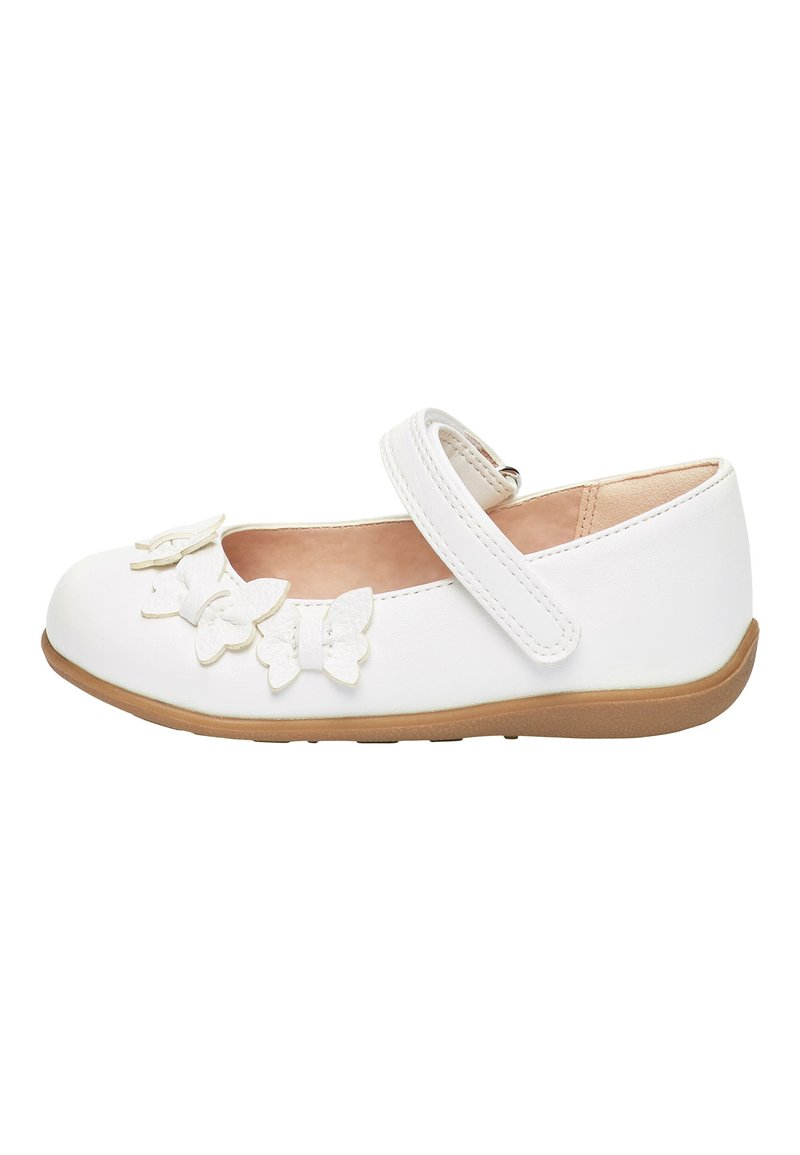 Next - WHITE BUTTERFLY MARY JANE SHOES (YOUNGER) - Riemchenballerina - white