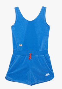 Nike Sportswear - HERITAGE ROMPER - Jumpsuit - pacific blue/track red/white - 0