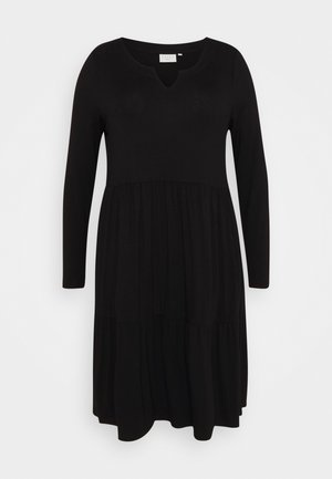 PATRI DRESS - Jersey dress - black deep