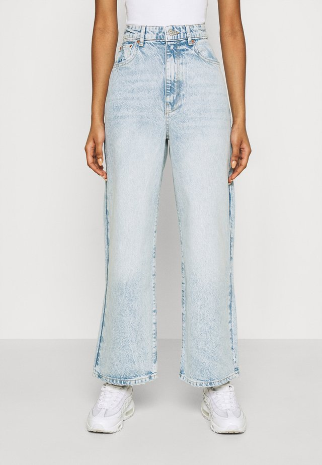 IDUN CROP WIDE - Skinny džíny - bleached blue