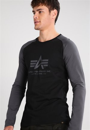Long sleeved top - black/grey black