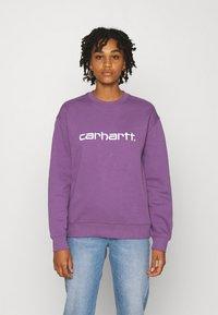 Carhartt WIP - CARHARTT - Sweatshirt - aster/white - 0