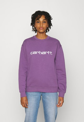 Sweatshirt - aster/white