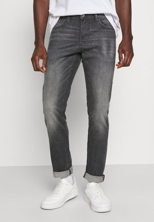 PIERS  - Slim fit jeans - used dark stone grey denim
