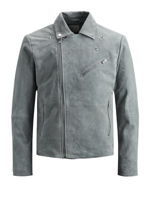 Faux leather jacket - grey