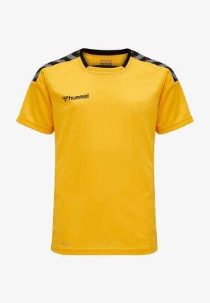 T-shirt print - sports yellow/black