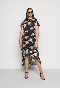 Dorothy Perkins Curve - OCCASIONL SLEEVE HIGH LOW  DRESS FLORAL - Robe d'été - multi coloured - 1