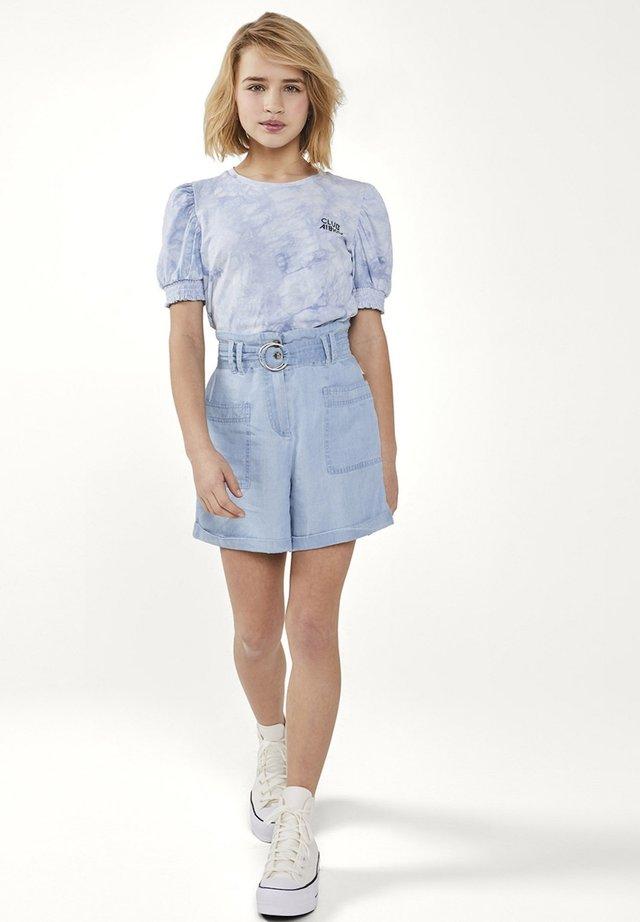 Print T-shirt - blauw