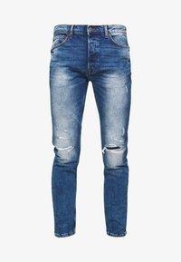 Topman - HEAVY WASH - Jeans slim fit - blue - 3