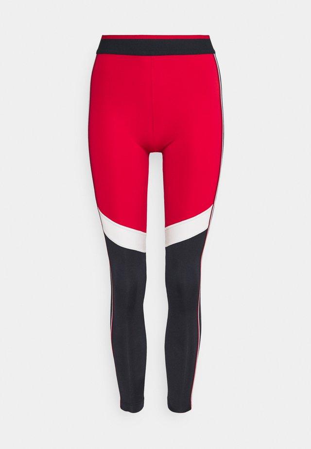 FULL LENGTH HERRINGBONE LEGGING - Leggings - primary red