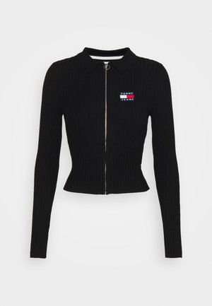 ZIP THROUGH - Cardigan - black