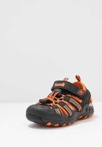 Kamik - CRAB - Walking sandals - black/orange/charcoal - 2