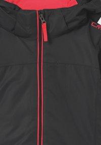 CMP - GIRL SNAPS HOOD - Lyžařská bunda - antracite/red fluo - 3