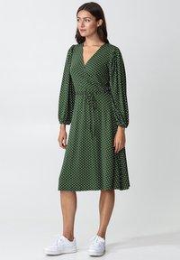 Indiska - SENJA LS - Jersey dress - green - 4