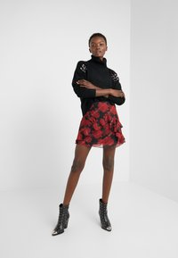The Kooples - JUPE - A-line skirt - red/black - 1