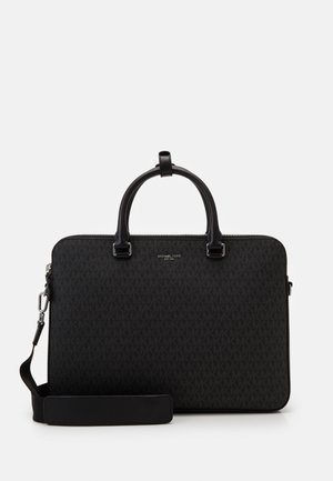 HENRY SLIM DOUBLE ZIP BRIEFCASE UNISEX - Aktówka - black