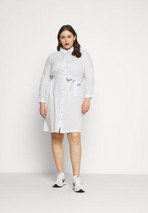 VMHELI DRESS - Shirt dress - snow white/placid blue