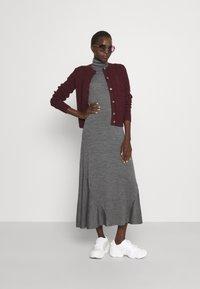 Polo Ralph Lauren - SHORT SLEEVE DAY DRESS - Maxi dress - boulder grey heather - 1