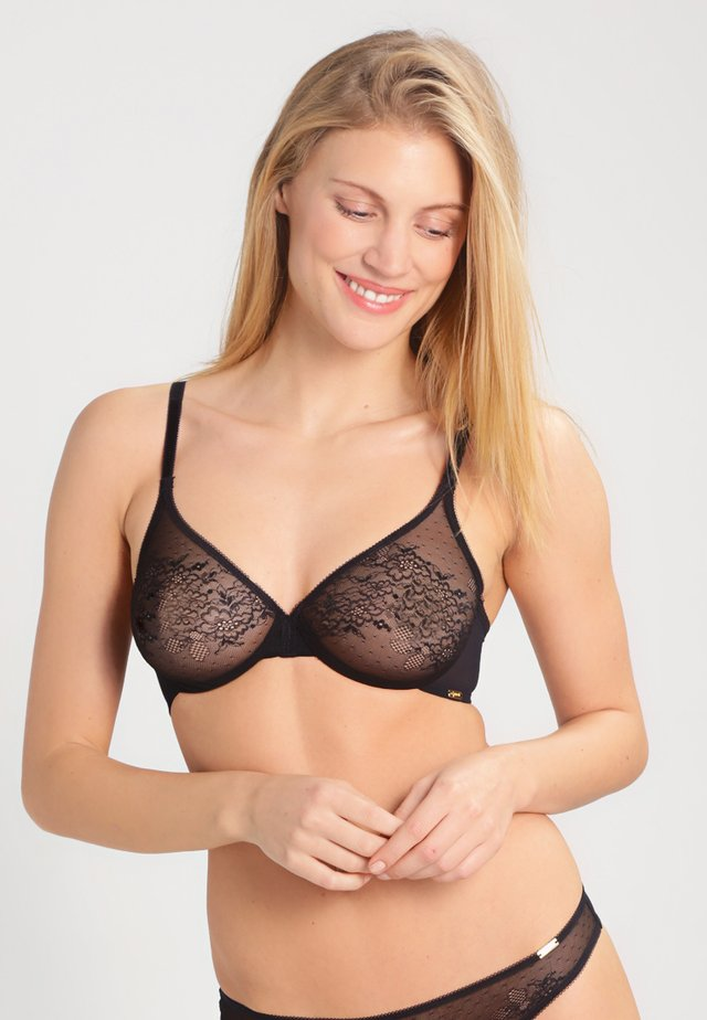 GLOSSIES - Underwired bra - black