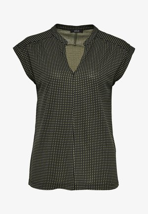 SANDI CHECKED - Blouse - taupe