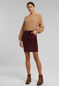 Esprit - PENCIL SKIRT - Pencil skirt - bordeaux red - 1