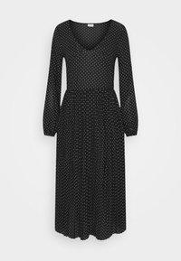 JDYHELEN LONG DRESS - Jersey dress - black/cloud dancer