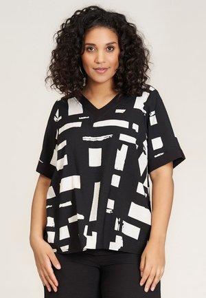 CHRISTINE - Blouse - black white patterned