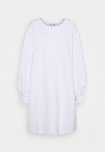 PUFF SLEEVE DRESS - Day dress - white