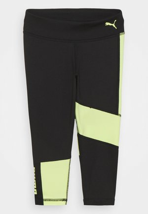 RUNTRAIN - Legging - black/soft fluor yellow
