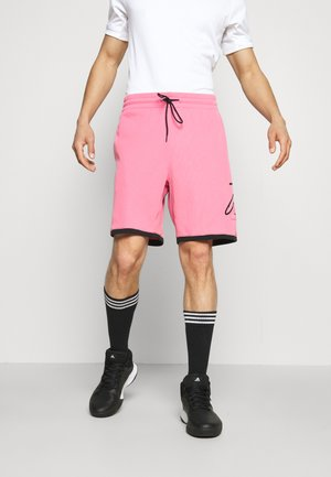 DOLLA SHORT BASKETBALL LILLARD AEROREADY WARMING PRIMEGREEN - Pantalón corto de deporte - rose tone/black