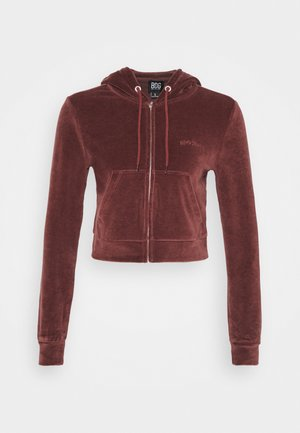 HOODY - Bluza rozpinana - chocolate