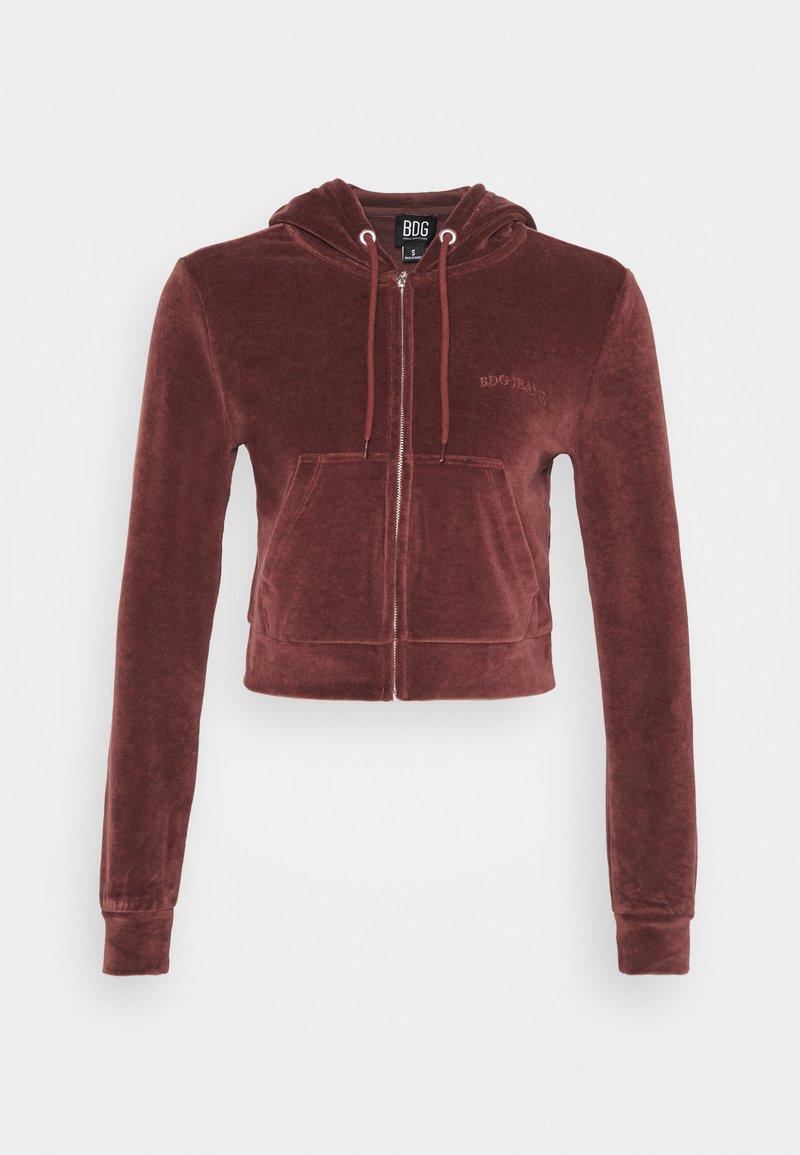 BDG Urban Outfitters - HOODY - Zip-up hoodie - chocolate