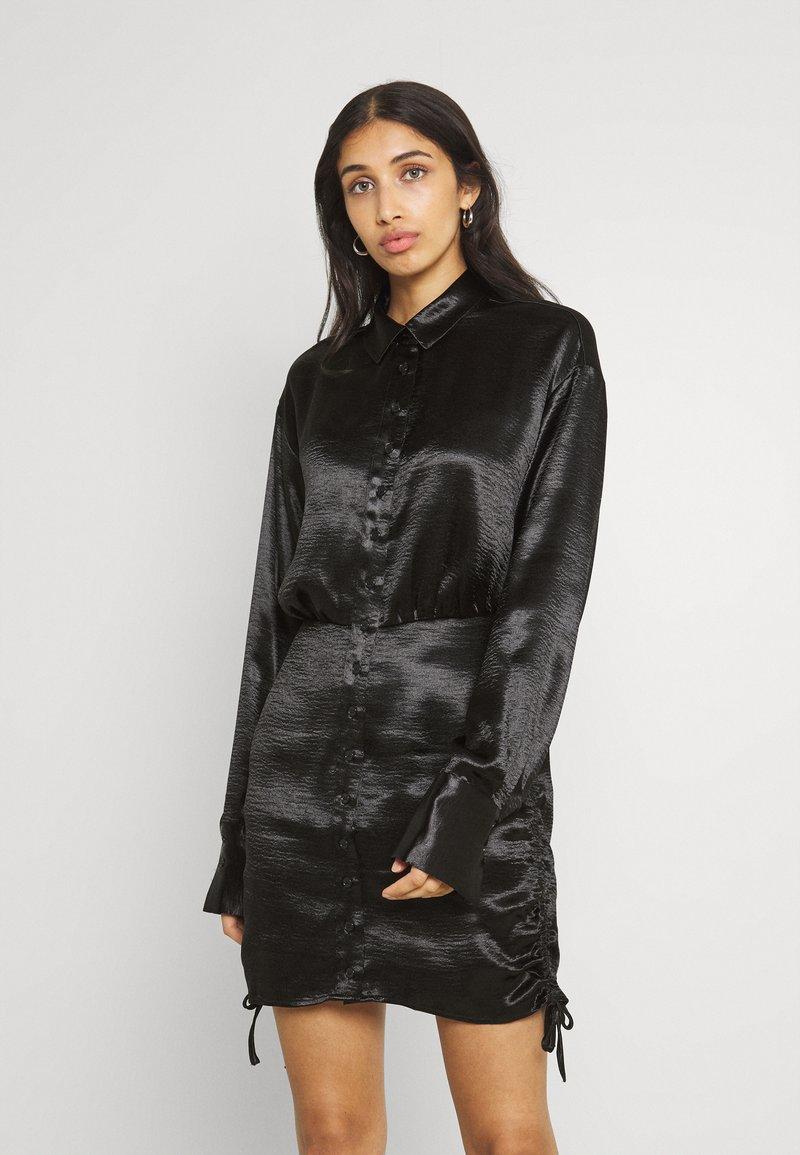 Gina Tricot - SIDNEY SHIRT DRESS - Cocktail dress / Party dress - black