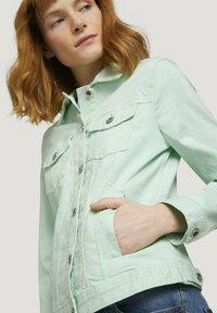 TOM TAILOR - MIT KNITTERDETAILS - Denim jacket - minty green - 3