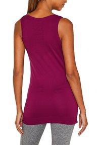 Esprit Sports - NAHTLOSES - Sports shirt - dark pink - 1