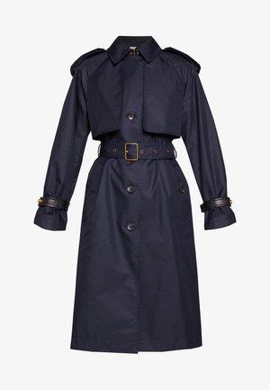HOODED - Trenchcoat - raven blue