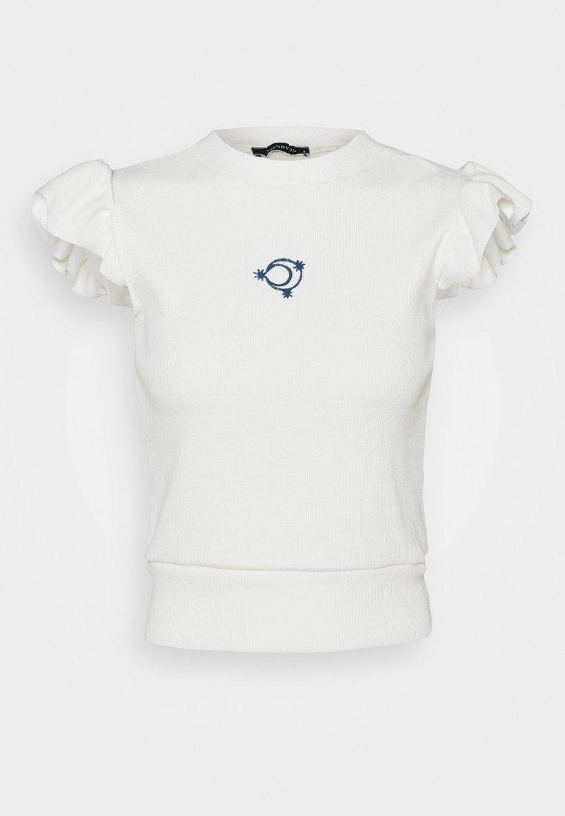 Trendyol - Print T-shirt - ecru