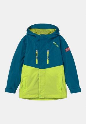 NUSFJORD UNISEX - Hardshell jacket - petrol/lime